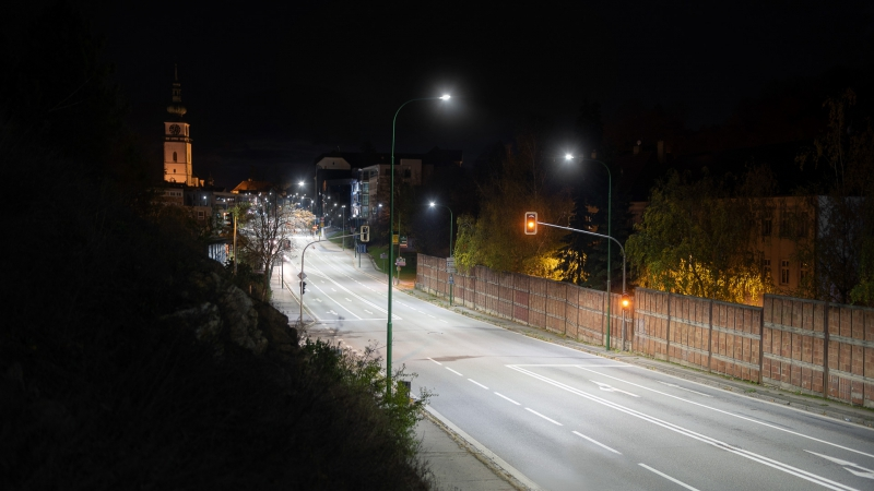 Reference video - Street lighting - Třebíč